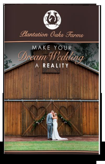 Pricing Brochure - Plantation Oaks Farms Wedding Venue