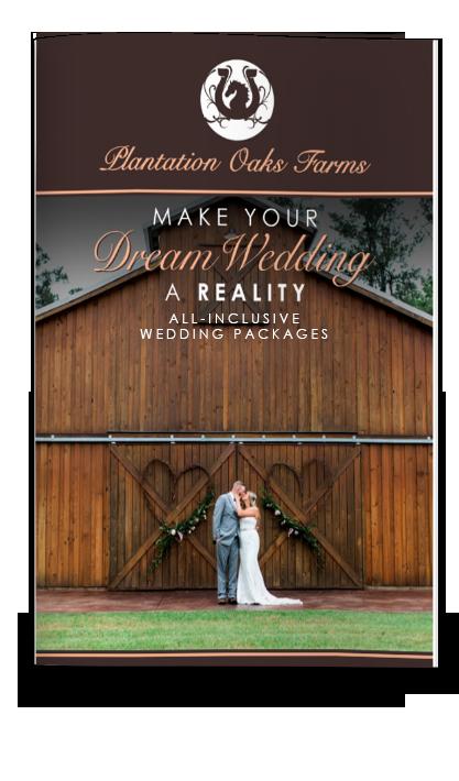 All Inclusive Packages Wedding Brochure Plantation Oaks Farms Wedding Venue
